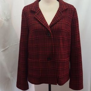 Talbots Women's Plaid Jacket Sz: 14